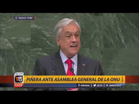 Presidente Sebastián Piñera interviene en la ONU