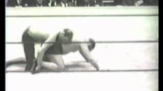"Ed ""Strangler"" Lewis and Richard Dick Shikat June 9, 1932  professional wrestling match MMA catch"