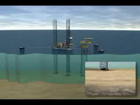 Deep sea pipeline Animation 3D rig move