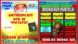 [NOVA ATUALIZAÇÃO] ROBLOX BOOGA BOOGA GUI SCRIPT ✓ | BOOGA KUY HUB V 1.6 | MOJO CRAFT & ADMIN E MATE TUDO E MAIS!