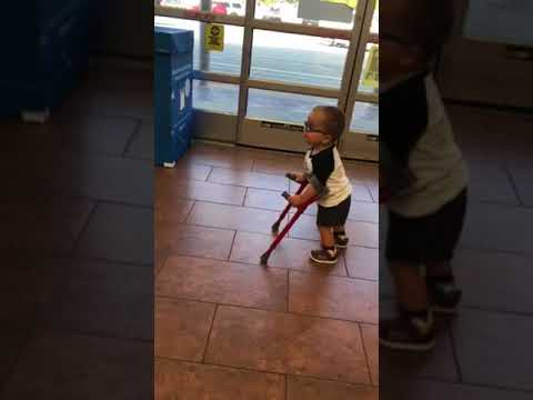 First time in public with his sticks!