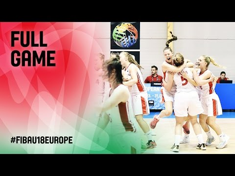 Czech Republic v Netherlands - Full Game - CL 13-16 - FIBA U18 Women's European Championship 2016