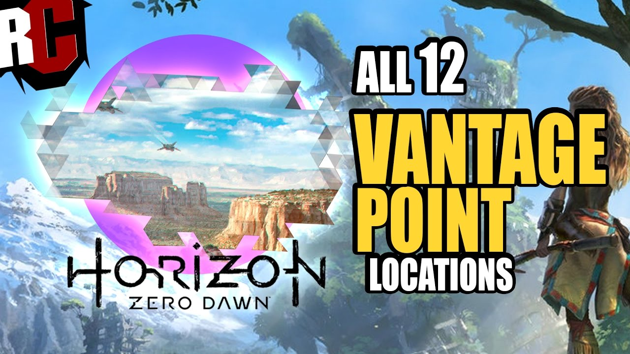 Horizon Zero Dawn - All Vantage Point Locations (All Vantages found Trophy  Guide)