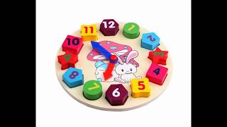 Digital Geometry Clock Baby Kids Early Education Puzzle Set Children'S Educational Toy