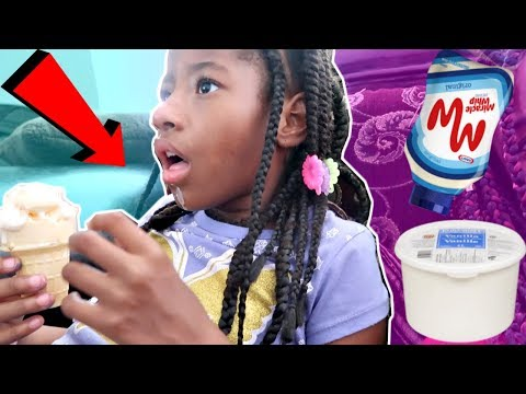 MAYONNAISE ICE CREAM PRANK ON DAUGHTER!!! | LACY'S FILES