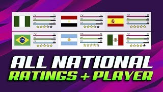 PES 2020 ALL NATIONAL TEAMS - RATINGS & PLAYERS