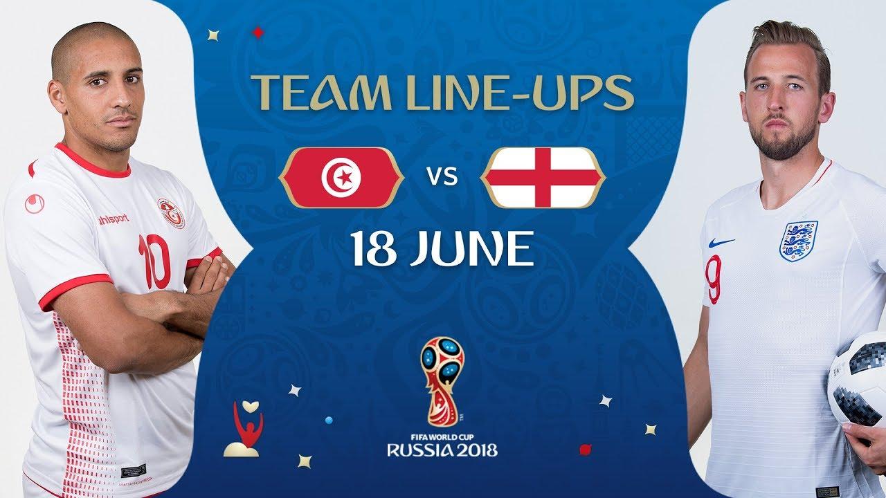 fcdccfa79b8 LINEUPS – TUNISIA v ENGLAND - MATCH 13   2018 FIFA World Cup™ - YouTube