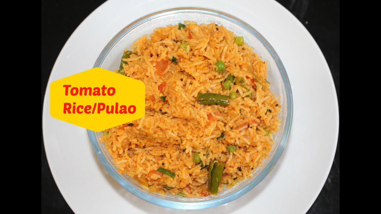 Tomato rice recipe tomato pulao indian vegetarian lunch recipe by tomato rice recipe tomato pulao indian vegetarian lunch recipe by harshis kitchen youtube forumfinder Gallery