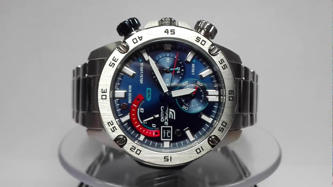 be2b6911b Casio Edifice EFR-558D-2AVUEF watch video 2017 - YouTube