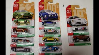 Hot Wheels Decades Cars Mix 2 Review!