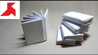 DIY 📗 📙 📘 - Как сделать мини КНИЖКУ из бумаги А4 своими руками?