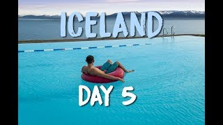 OUTDOOR POOL WITH A MOUNTAIN VIEW - ICELAND VLOG DAY 5