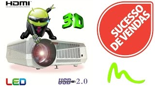 Projetor LED Full HD 3D Android 4.4 5500 Lumens Wifi