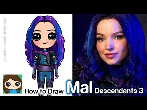 How To Draw Mal | Disney Descendants 3