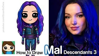 How To Draw Mal | Disney Descendants 3