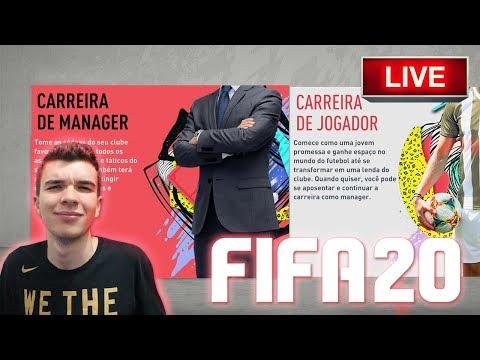 LIVE MODO CARREIRA FIFA 20!!! CONSTRUINDO NOSSO TIME DO ZERO!!!