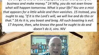 Lesson 22  James 4:13-17  December 16, 2020