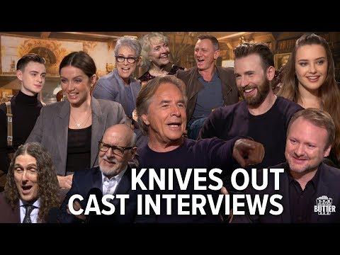 Knives Out Fun Cast Interviews: Chris Evans, Daniel Craig, Ana de Armas, Rian Johnson | Extra Butter