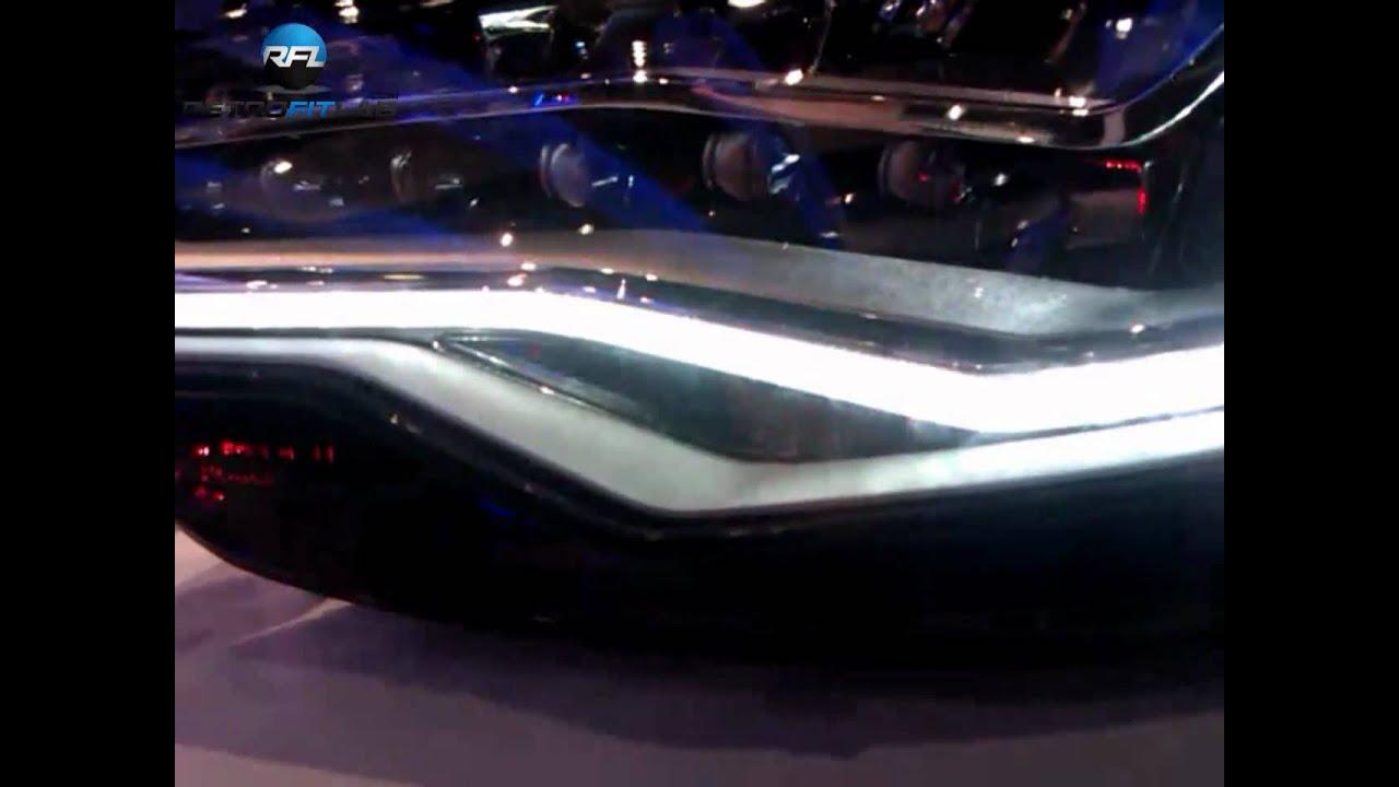 Demonstration all functions Audi A6 2012 full led headlight - YouTube