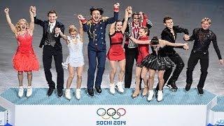 Сочи 2014 Фигурное катание Сборная России выиграла командные соревнования по фигурному катанию