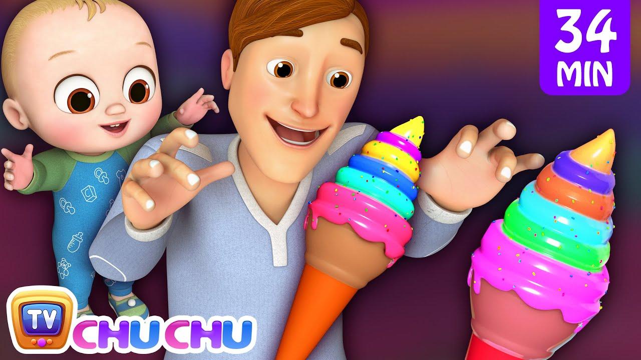 Johny Johny Yes Papa Ice Cream Song + More 3D Nursery Rhymes & Kids Songs - ChuChu TV