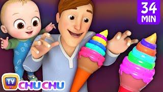Johny Johny Yes Papa Ice Cream Song + More 3D Nursery Rhymes & Kids Songs - ChuChu TV thumbnail