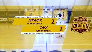 Обзор Мини футбол в Вузы МГАФК СФУ 2_2
