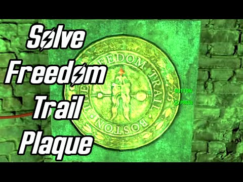 Fallout 4 - How To Solve The Freedom Trail Plaque & Unlock The Door - Walkthrough