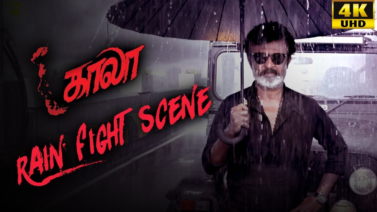 Download Kaala (Tamil) - Rain Fight Scene   Rajinikanth   Nana Patekar   Huma Qureshi   4K [with Subs]