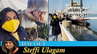 Steffi's Travel Vlog in Tamil | Moody Gardens- Galveston (Aquarium/Rainforest/Dinos/Boat Ride)
