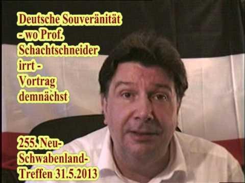 Deutsche Souveränität - wo Prof. Schachtschneider irrt. Vortrag demnächst.