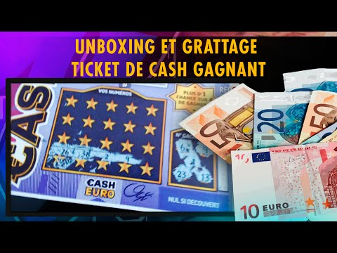 unboxing et grattage ticket de cash gagnant youtube. Black Bedroom Furniture Sets. Home Design Ideas