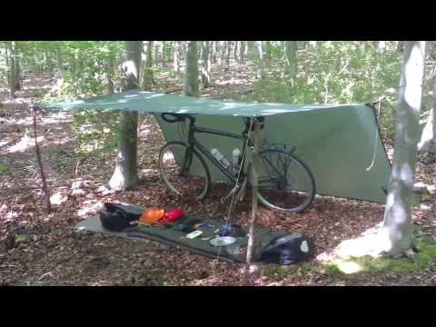 Bicycle Trekking- Lightweight Setup For a Overnighter.