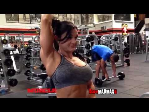 Woman's Physique Pro Danielle Mastromatteo Trains Arms & Delts