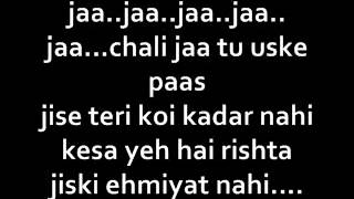 A bazz - chali jaa (lyrics) - YouTube.FLV