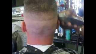 Flat Top Skin Fade Haircut, Military Cut Part 1 of 2 thumbnail