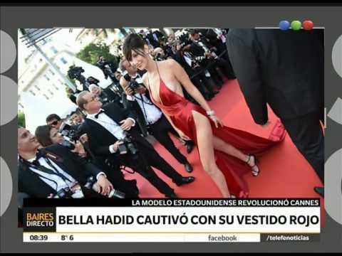 Bella Hadid cautivó con su vestido rojo en Cannes - Telefe Noticias thumbnail
