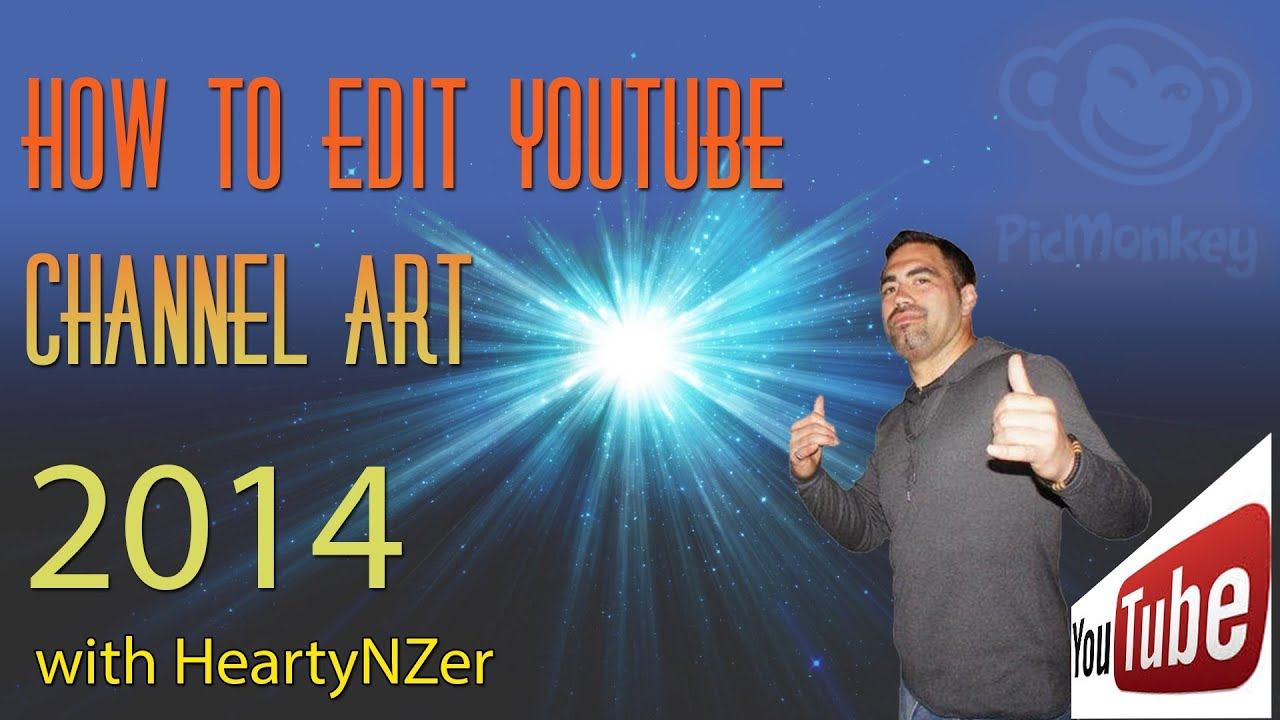 how to make channel art on youtube 2014