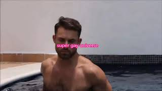 super gay universe hunk men passionate pool internet meet gays kiss love Trunks guy same sex COUPLE