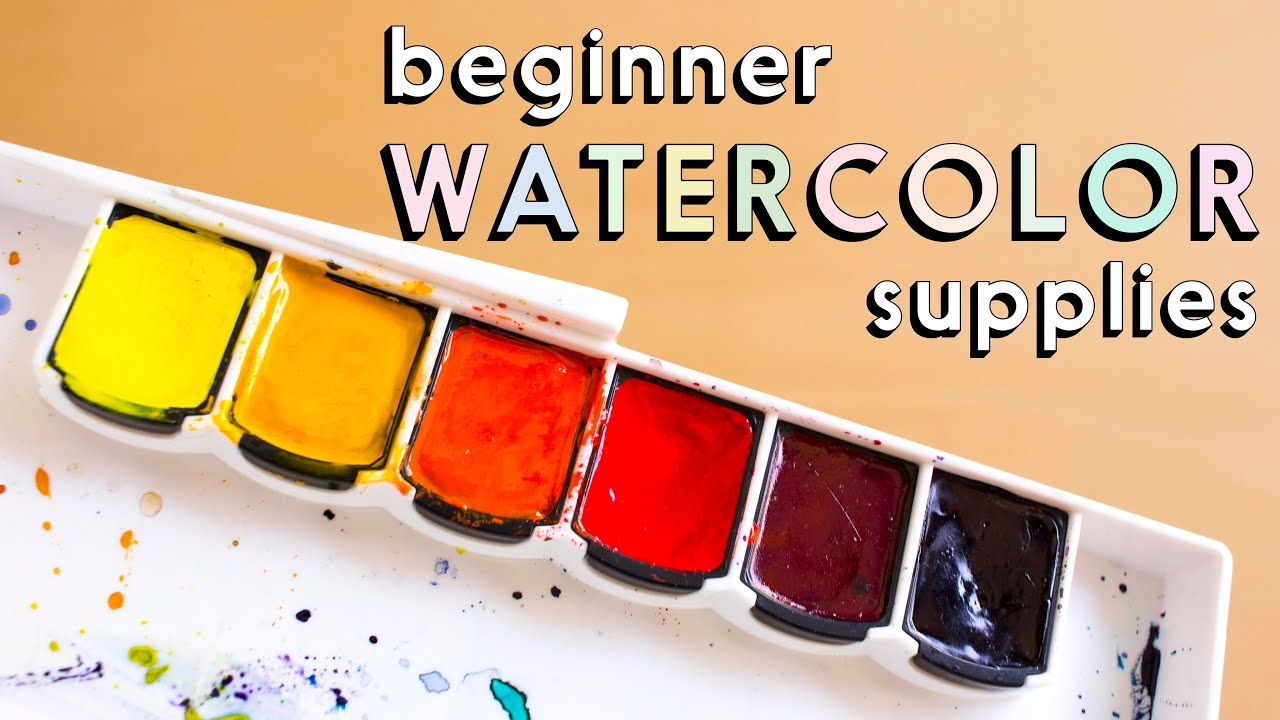 SUPPLIES FOR WATERCOLOR BEGINNERS + Kit Giveaway! - YouTube