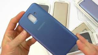 Unboxing Samsung Galaxy A6 2018 Sn-A600 e Review Wallet e Dual Layer cover