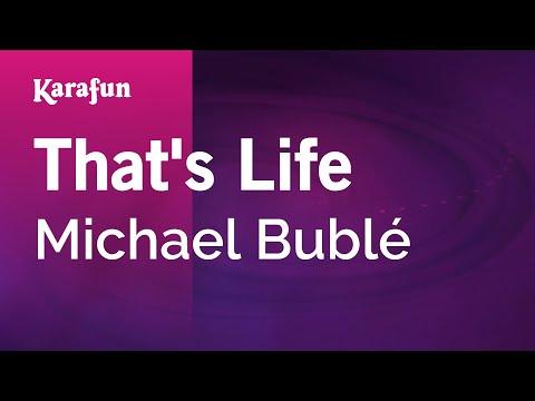 Karaoke That's Life - Michael Bublé *