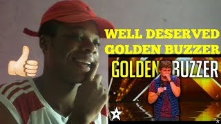 Comedian DREW LYNCH Gets Golden Buzzer