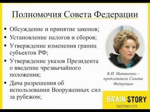 7.7.4  Полномочия Совета Федерации