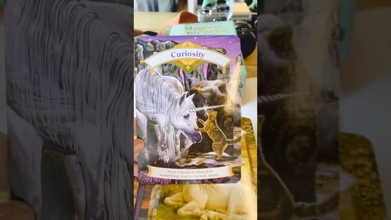 《獨角獸神諭卡開箱》一副畫風非常美麗能給人帶來陽光的卡。 - YouTube