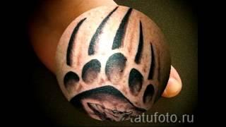 Значение тату лапа медведя   примеры готовых татуировок на фото