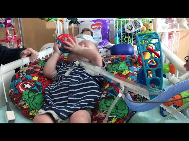 Little boy hasn't left the hospital since he was born