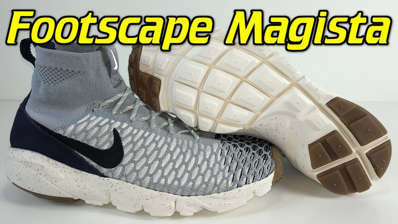 Tóxico Oriental Escuchando  Nike Air Footscape Magista Flyknit Wolf Grey/Dark Obsidian - Review + On  Feet - YouTube