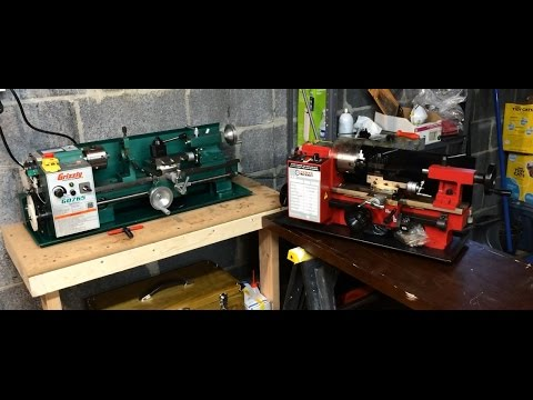 "Grizzly G0765 7"" X 14"" Variable-Speed Benchtop Lathe vs Harbor Freight 7"" x 10"" Precision Mini Lathe"