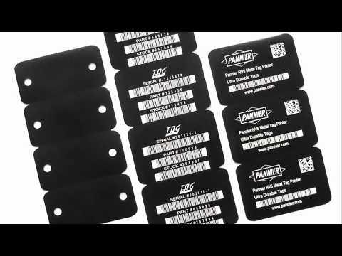 NV5 Metal Bar Code Tag Printer